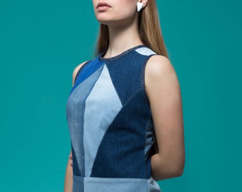 Mainseam Crystals Dress Mya blue Detail